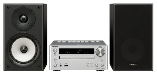 onkyo mini stereo system. onkyo\u0027s cs-545: available with or without speakers, grilles are removable onkyo mini stereo system b