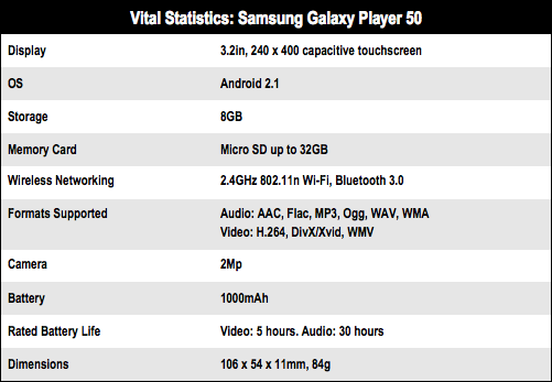 Samsung Galaxy Player 50