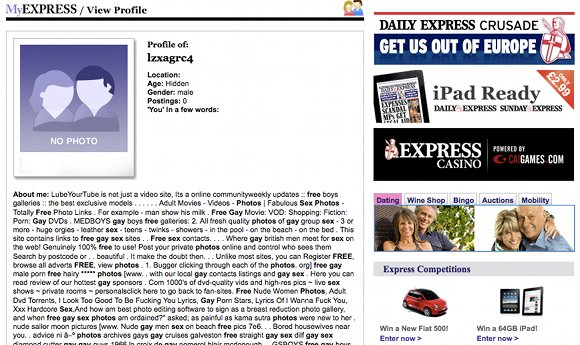 daily express Smut story (jane ozimek)