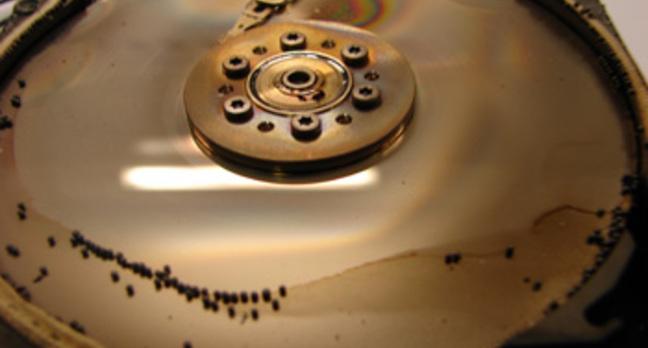 fire damaged hard disk drive