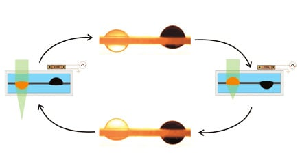 Electromagnetic liquid pistons for capillarity-based pumping