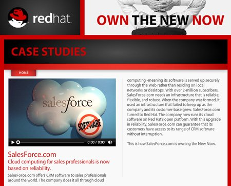 Red Hat Salesforce screen shot