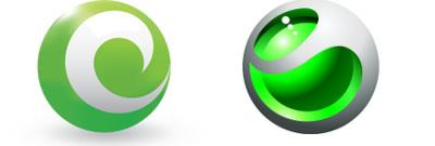 Respective logos for comparison