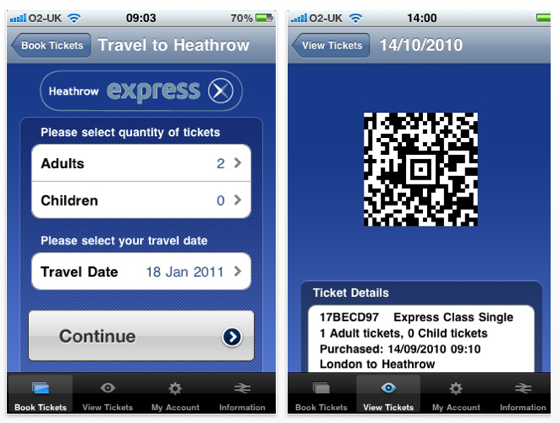 Heathrow Express app