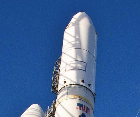 Detail of Delta IV Heavy NROL-32 awaiting launch from Vandenberg AFB SLC-6. Credit: ULA