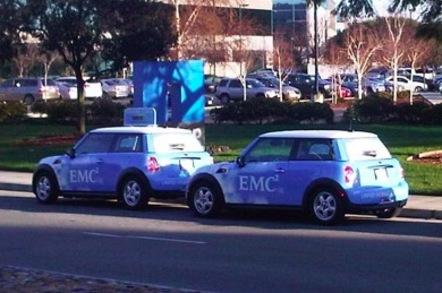 EMC Minis outside NetApp Sunnyvale HQ