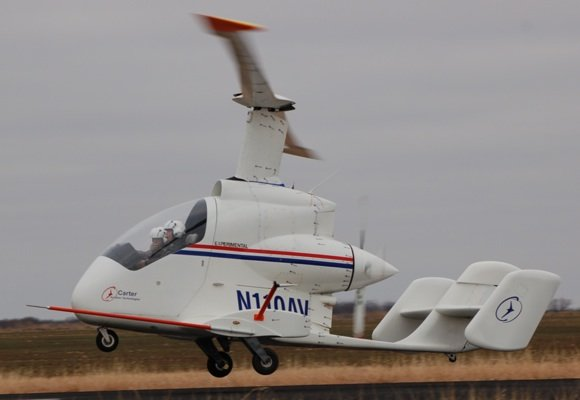 The Carter PAV takes off for a test flight. Credit: Anita Infante