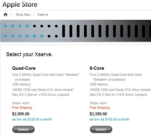 Apple Xserve shipping notice
