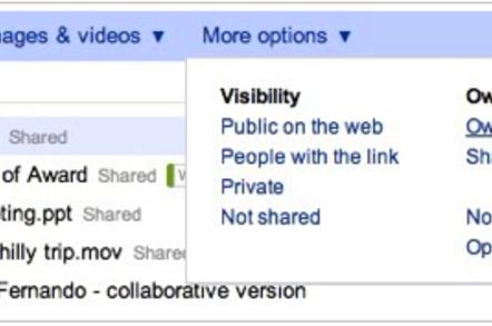 Google Docs new file finder