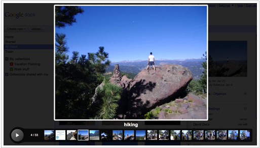 Google Docs slideshow viewer