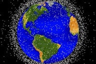 NASA graphic of space debris in low Earth orbit. Pic: NASA