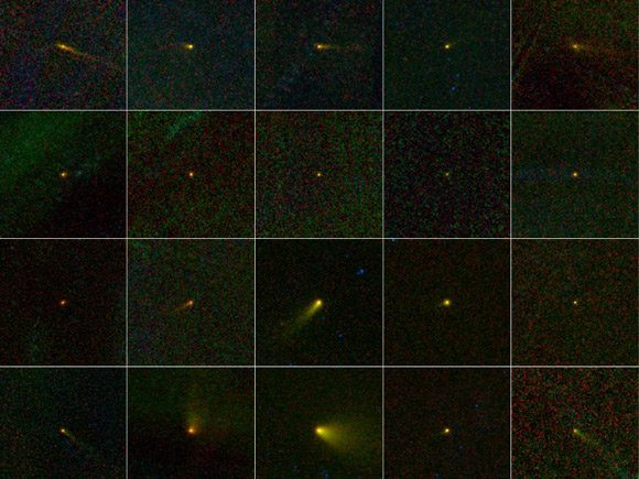 Montage of comets discovered by NEOWISE. Pic: NASA