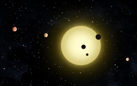 Artist's representation of the Kepler-11 system. Pic: NASA