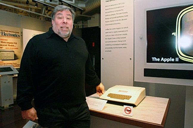 Woz with Apple II