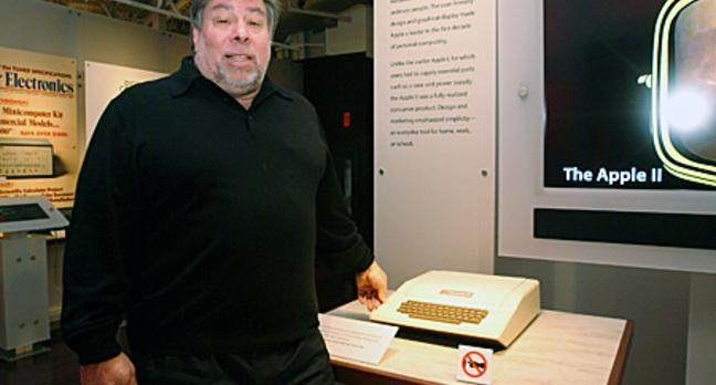 Woz with Apple II, photo: Gavin Clarke