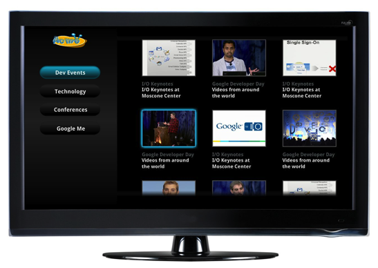Google TV site template