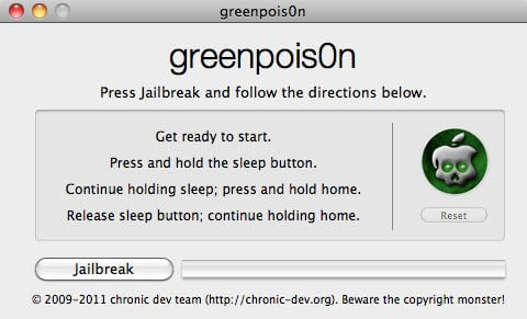 greenpois0n for Mac 10.5 or above