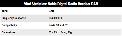 Nokia Digital Radio Headset DAB
