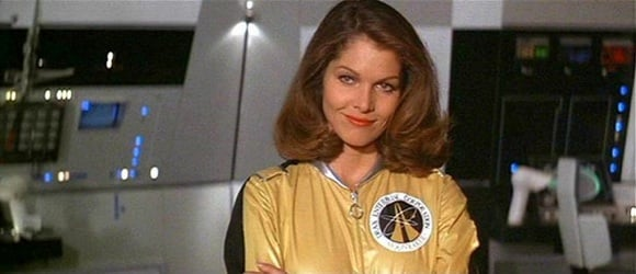Lois Chiles as Dr Holly Goodhead of NASA and the CIA, dressed for space in Bond flick Moonraker
