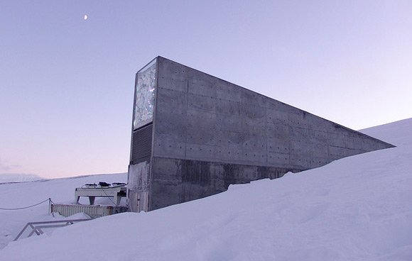 The entrance to the Svalbard Global Seed Vault. Pic: Mari Tefre/Global Crop Diversity Trust