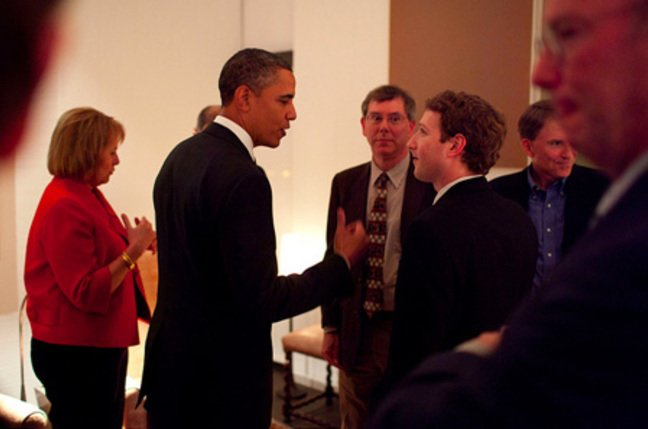 Obama and Mark Zuckerberg, Official White House Photo by Pete Souza