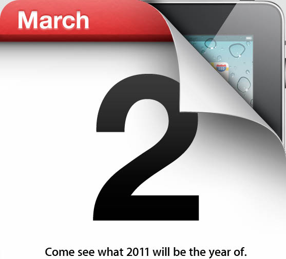 Apple's invitation to the iPad 2 roll-out on March 2, 2011