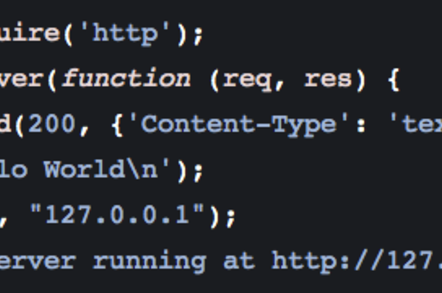 Node.js 'hello world' webserver