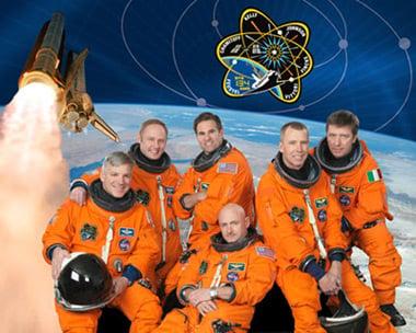 The Endeavour crew. Pic: NASA