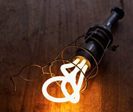 The Plumen lightbulb