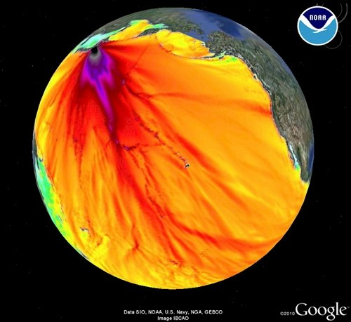 NOAA Honshu Force on Google Earth