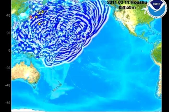 Honshu Tsunami Wave Propagation