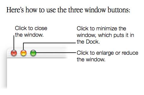 Mac OS X Cheetah window buttons