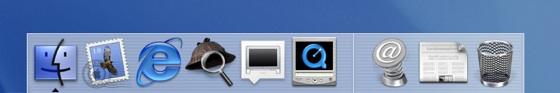 Mac OS X Cheetah Dock