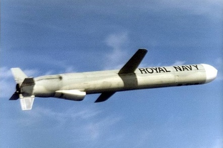 A Tomahawk cruise missile in flight, as launched from Royal Navy submarines. Credit: Crown Copyright/Royal Navy