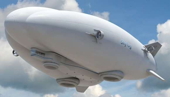 Concept of the 'Skytug' hybrid airship. Credit: Lockheed Martin