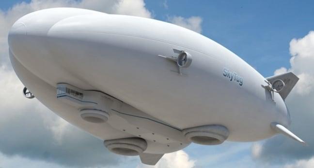 Concept of the 'Skytug' hybrid airship. Credit: Lockheed Martin