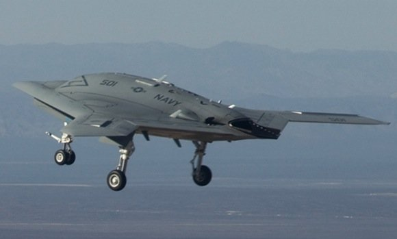 The X-47B makes its first flight. Credit: Northrop Grumman
