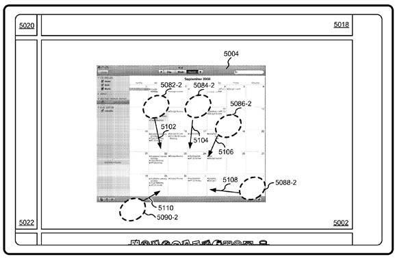 Apple multi-touch Spaces patent illustration