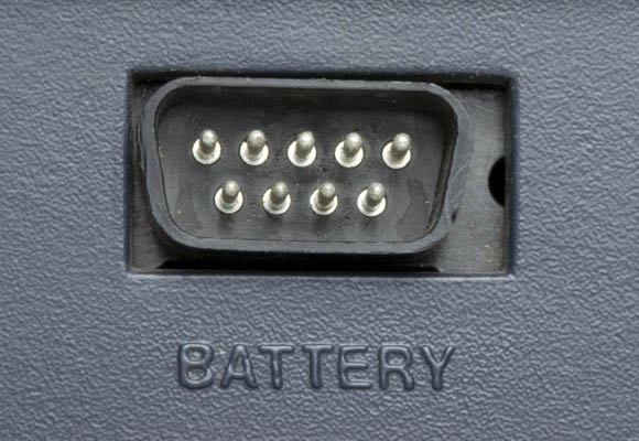 Osborne 1, second version - battery port