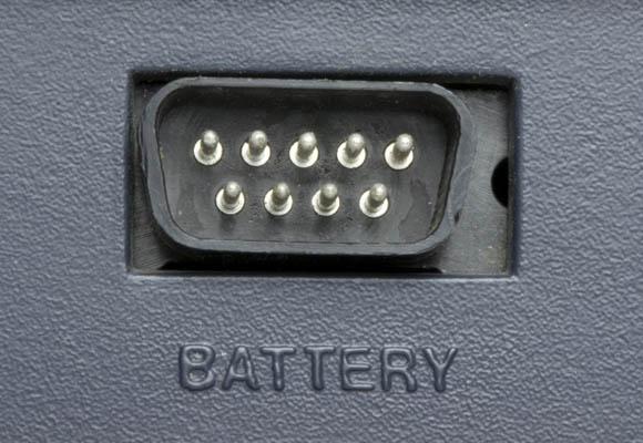 Osborne 1, second version - battery port