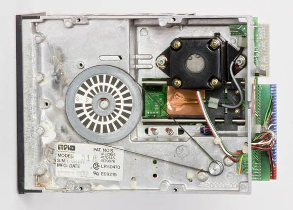 Osborne 1, second version - 5.25-inch floppy drive, bottom