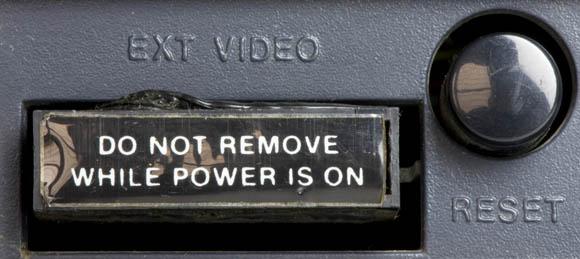 Osborne 1, second version - video port and reset button