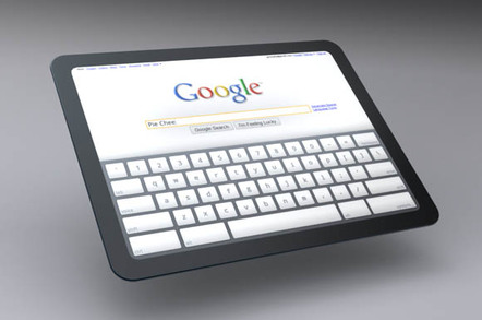 Google Chrome OS tablet concept illustration