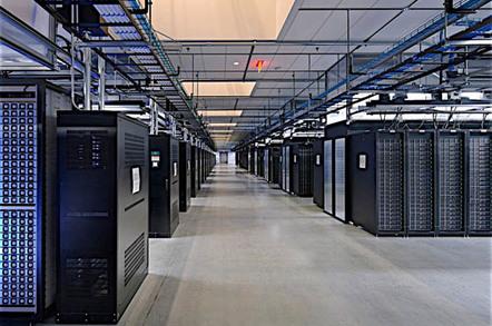 Facebook data center - interior
