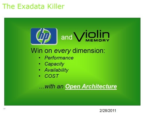HP's Oracle Exadata killer