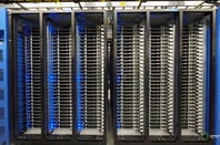 Facebook data center - server racks