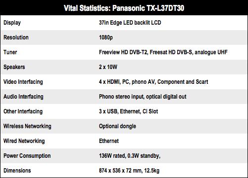 Panasonic TX-L37DT30