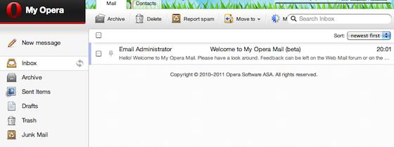 Opera Mail beta