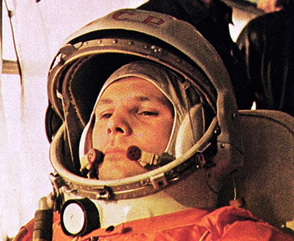 Yuri Gagarin in his spacesuit. Pic: NASA