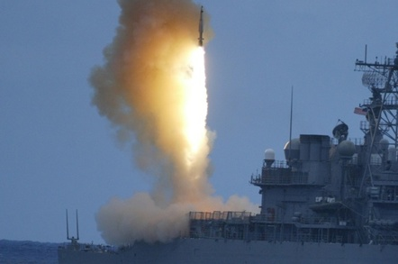 A Standard SM-3 missile launching from a US warship. Credit: MDA